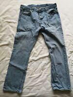 """Levi's Men's Light Blue Denim 501 Jeans Size W 38"""" L 32"""" Used Condition"""