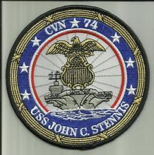 """USS JOHN C STENNIS CVN 74 U.S.NAVY PATCH 5"""" AIRCRAFTCARRIER SAILOR AIRPLANES USA"""