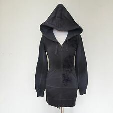 Triple 555 Five Soul Grey Tunic Zip Up Hoodie Distressed Gothic Steampunk Small