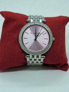 Michael Kors MK3352 Women Silver Stainless Steel Analog Dial Quartz Watch RUN