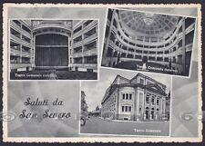 FOGGIA SAN SEVERO 10 TEATRO - SALUTI da... VEDUTINE Cartolina viaggiata 1955