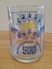 """56th Indianapolis 500 5"""" Glass 1971 Al Unser Last Winner on Glass"""