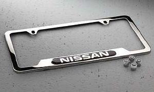 Genuine Nissan License Plate Frame Valve Stem Cap Set Universal