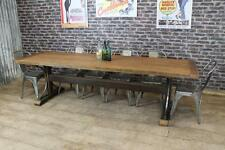 HANDMADE 8FT RECLAIMED RUSTIC PINE TRESTLE DINING TABLE THE IRONBRIDGE BESPOKE