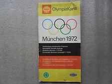 CARTE ROUTIERE-STADTPLAN-MÜNCHEN-1972-OLYMPIAKARTE-MAIR-SHELL-DEUTSCHLAND-_//