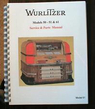 Wurlitzer Jukebox Models 50,51& 61  Service Manual