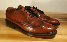 EUC! Vtg Custom British Walkers Oxford Wingtip Pebble Grain Dress Shoes 7.5 D
