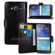 Leather Wallet Flip Case Cover for Samsung Galaxy J2 - FULL BODY PROTECTION
