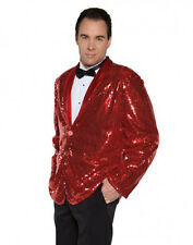 Disco Musical Jazz Rockstar Rocker Pimp Costume Red Sequin Jacket