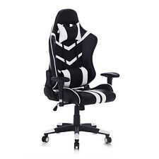 Racing chaise sport ergonomique Chaise de Gaming Chaise de Bureau Blanc BS15ws
