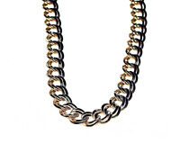 Bijou alliage couleur or collier maille double necklace