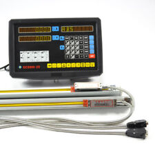 2 AXIS DIGITAL READOUT DRO FOR MILLING LATHE + 2 PRECISION LINEAR SCALE TRAVEL
