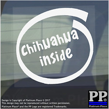 1 x Chihuahua Inside-Window,Car,Van,Sticker,Sign,Adhesive,Dog,Pet,On,Board,Puppy