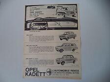 advertising Pubblicità 1963 OPEL KADETT 1000/CARAVAN/L LUSSO