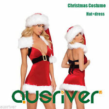Women's Polyester Santa Claus Costumes