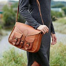 Hobo Purse Women Vintage Brown Modest Leather Messenger Cross Body Bag Handmade