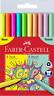 Faber-Castell Grip Colour Markers - Neon + Pastel Colours Set of 10