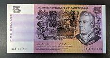 R202F $5 Commonwealth Of Australia Banknote First Prefix aUnc