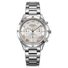 Rotary LB00060/70 Ladies Diamond Accented Multi-Function Stainless Steel Watch