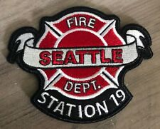Station 19 Embroidered Patch Seattle Fire Department Work Duty TV Show Crew