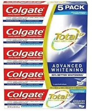 New Colgate Total SF Advanced Whitening Toothpaste 6.4 oz/ 5 pack Exp 05/21 NEW