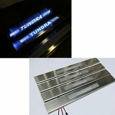 LED light Car 4 Door sill scuff plate Guard Sills for Toyota Tundra 08-15 Blue