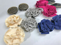 Lot of 6 Six Pair of Womens Vintage Shoe Covers Floral Clips