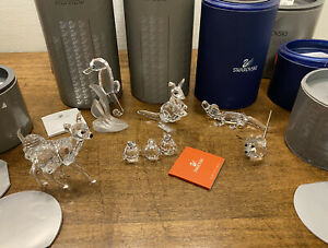 LOT of SWAROVSKI CRYSTAL Animals Figurines, with Boxes