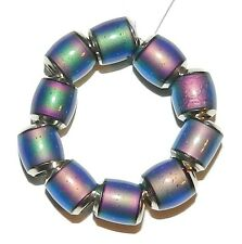 MC133 Color Changing Thermo Sensitive Sparkle Mood Bead 7mm Round Barrel 10pc