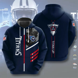Tennessee Titans Hoodie Football Pullover Hooded Sweatshirt Fans Sports Jacket