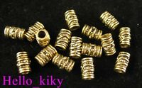 100Pcs  Antiqued gold plt screw barrel spacer beads A420
