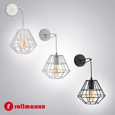 Wandlampe Wandleuchte Lampe Leuchte Weisse Grau Schwarz Matt Industrie Design