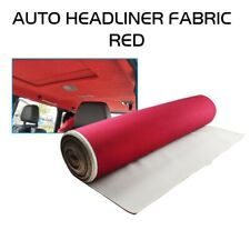 Wine Red Foam Backed Headliner Fabric Upholstery Car Roof Liner Spong 60