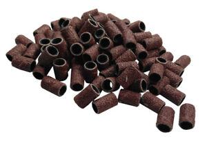 """100pc 1/4"""" 6.35Mm 80 Grit Drum Sanding Sleeves Wood, Metal, Nails, 4 Dremel etc"""