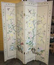 EUC! Neiman Marcus Horchow Catalog Hand-Painted Asian Folding Panel Room Divider