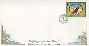 GUERNSEY SHIPPING DEFINITIVES PART I £5 STAMP 1998 FIRST DAY COVER - NO ADDRESS