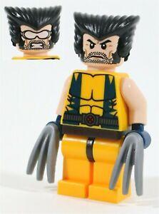 LEGO MARVEL X-MEN WOLVERINE MINIFIGURE LOGAN COMIC - MADE OF GENUINE LEGO PARTS