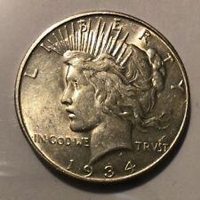 1934 D Silver Peace Dollar $1 Tough Date
