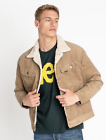 Mens Lee Rider sherpa corduroy jacket 'Stone' FACTORY SECONDS L222