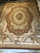 Vintage French Needlepoint Rug Beautiful Flowers ! Mint! Estate Find!
