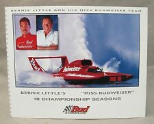 BERNIE LITTLE 1998 MISS BUDWEISER promo color card picture hydro boat racing