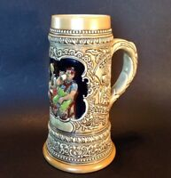 Ceramarte 1976 Beer Stein  - Budweiser German Tavern Scene Collectible - Brazil