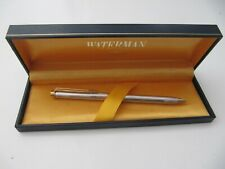 Waterman France Gentleman Sterling Silver 0.7mm Pencil Pinstripe In Box Nice.