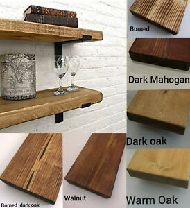 Rustic Shelf Floating Industrial Mantle Shelves Handmade UK Solid Wood Radiator✔