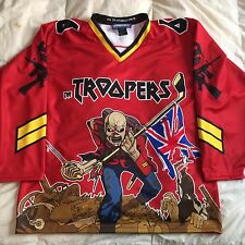 Custom Iron Maiden Eddie Hockey Jersey 66 The Beast Large Red