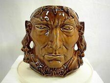 VINTAGE MCCOY INDIAN HEAD COOKIE JAR NO LID NICE BASE TRIBE CHIEF BRAVE WESTERN