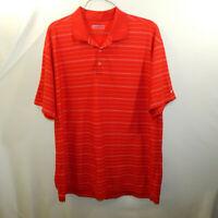 Nike Golf Dri Fit Short Sleeve Polo Shirt Red Striped Size 2XL XXL Mens Clothing
