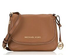 Michael Kors Shoulder Bag Bedford Sm Flap cross Body Leather Luggage New
