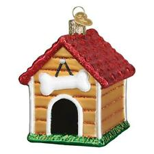Old World Christmas Dog House (20113)X Glass Ornament w/ Owc Box