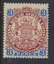RHODESIA : 1896 3d red-brown and ultramarine Die 1 SG31var mint